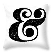 Ampersand Poster White Throw Pillow