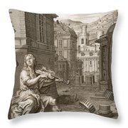 Amphion Builds The Walls Of Thebes Throw Pillow
