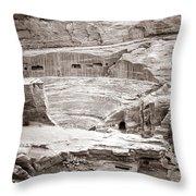 Amphitheater In Petra Throw Pillow