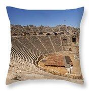 Amphitheatre In Side Turkey Throw Pillow