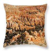 Amphitheatre At Bryce Canyon Throw Pillow