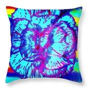 Amplified Flower Throw Pillow