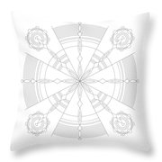 Amplitude Throw Pillow by DB Artist