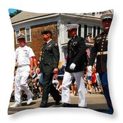 Amred Forces Salute Throw Pillow by James Kirkikis