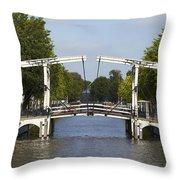 Amsterdam - Drawing Bridge Throw Pillow