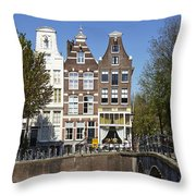 Amsterdam - Old Houses At The Keizersgracht Throw Pillow