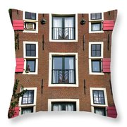 Amsterdam Architecture Throw Pillow