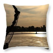 Amsterdam At Sunset Throw Pillow