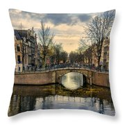 Amsterdam Bridges Throw Pillow