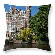 Amsterdam Canal Mansions - The Dainty Tower Throw Pillow