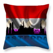 Amsterdam City Throw Pillow