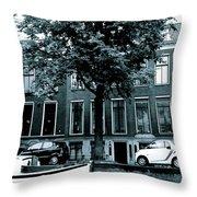 Amsterdam Electric Car Throw Pillow