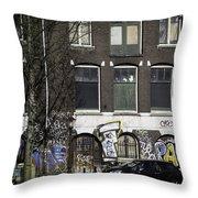 Amsterdam Graffiti Throw Pillow