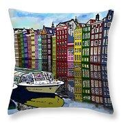 Amsterdam Holland Throw Pillow