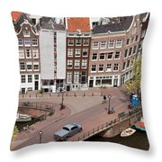 Amsterdam Houses From Above Throw Pillow