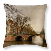 Amsterdam Panorama Throw Pillow