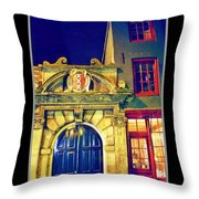 Amsterdam Postcard Throw Pillow