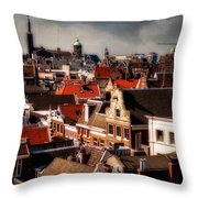 Amsterdam Roofs. View From Metz Cafe Throw Pillow