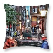Amsterdam Saturday Night Throw Pillow