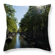 Amsterdam Spring - Green Sunny And Beautiful Throw Pillow