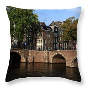 Amsterdam Stone Arch Bridges Throw Pillow