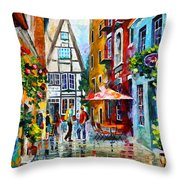 Amsterdam Street Throw Pillow