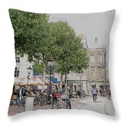 Amsterdam Streets 3 Throw Pillow