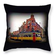 Amsterdam Transportation Throw Pillow