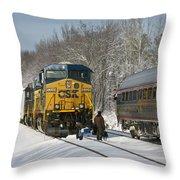 Amtrak And Csx Crews Throw Pillow