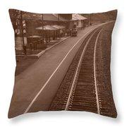Amtrak Departure Throw Pillow