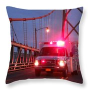 Amubulance  Throw Pillow