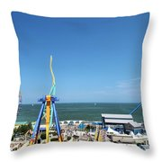 Amusement Park View Throw Pillow