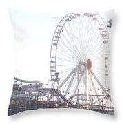 Amusement Rides At Wildwood Nj Throw Pillow