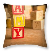 Amy - Alphabet Blocks Throw Pillow