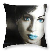 Amy 'n' Blues Throw Pillow
