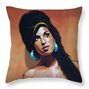 Amy Winehouse Throw Pillow