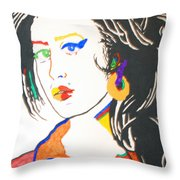 Amy Winehouse Throw Pillow