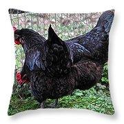Amys Black Beauties Throw Pillow