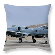 An A-10c Thunderbolt II Landing Throw Pillow