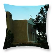 An Adobe Church In New Mexico Throw Pillow