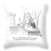 An Advisor Speaks To A Politician Who Is Sitting Throw Pillow