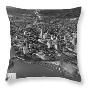 An Aerial View Of Miami Throw Pillow