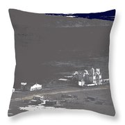 An Aerial View Of The San Xavier Mission No Date-2013  Throw Pillow