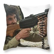 An Afghan Local Police Officer Fires Throw Pillow