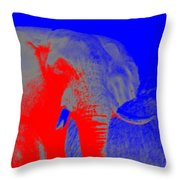 an Afternoon in Africa Throw Pillow