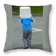 An Afternoon Of Fishing-no Luck Throw Pillow