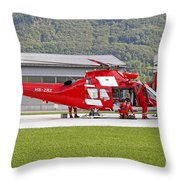 An Agustawestland Aw109 Helicopter Throw Pillow