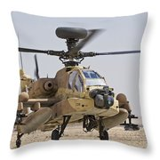 An Ah-64d Saraf Attack Helicopter Throw Pillow