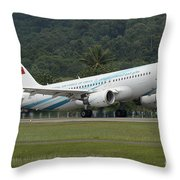 An Airbus A320 Of The Royal Air Force Throw Pillow