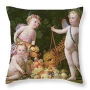 An Allegory Of Peace And Plenty Throw Pillow